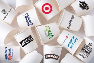 пластиковые стаканы с логотипами