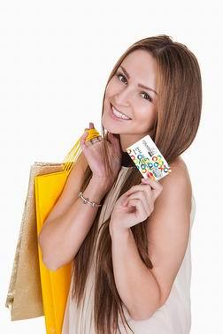 Девушка с визитной карточкой