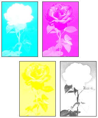 раскладка цвета при печати