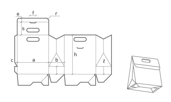 Коробка «пакет»