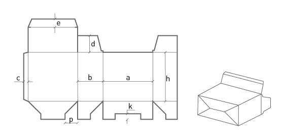 Пенал с самосборной формой дна (ласточкин хвост)