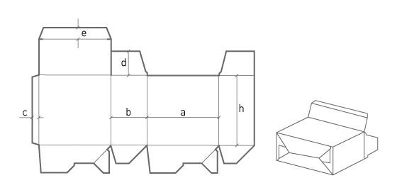 Коробка с автоматическим дном (трехточечная склейка)